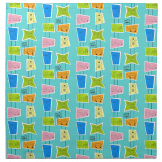 Retro Atomic Kitsch Cloth Napkins