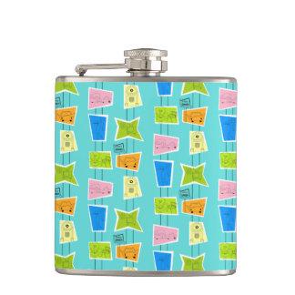 Retro Atomic Kitsch Flask