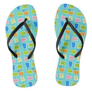 Retro Atomic Kitsch Flip Flops
