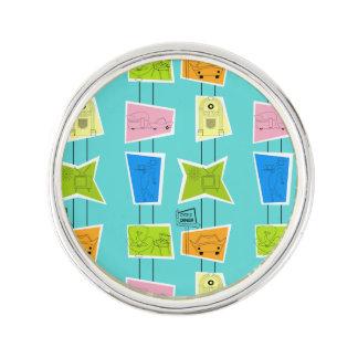 Retro Atomic Kitsch Lapel Pin