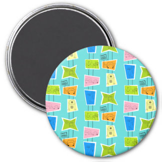 Retro Atomic Kitsch Magnet