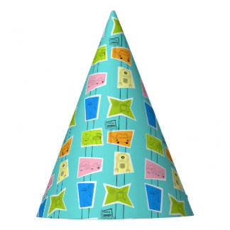 Retro Atomic Kitsch Party Hat