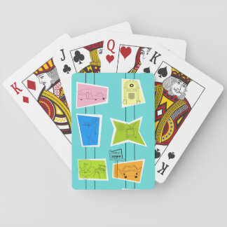 Retro Atomic Kitsch Playing Cards