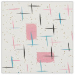 Retro Atomic Pink Pattern Fabric