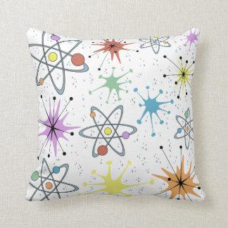 Retro Atomic Throw Pillow