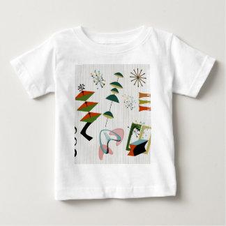 Rétro atomique d'Eames-Ère inspiré T-shirt Pour Bébé