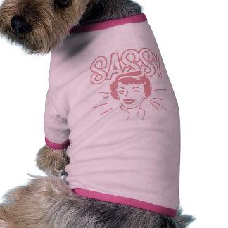 Rétro attitude impertinente vêtements pour chien