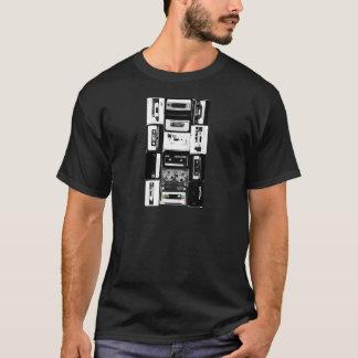 Retro audio cassette group b&w T-Shirt