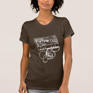 Retro Audio Cassette T-shirt - Black