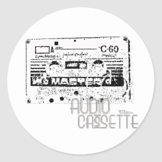 Retro Audio Classic Round Sticker