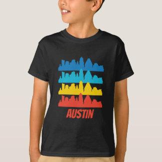 Retro Austin TX Skyline Pop Art T-Shirt