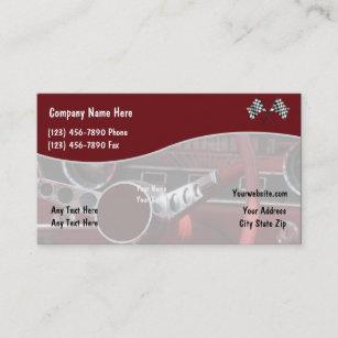 Automotive service technicians mechanics business cards profile retro automotive business cards reheart Image collections