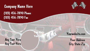Car restoration business cards profile cards zazzle ca retro automotive business cards reheart Image collections