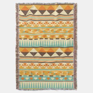 Retro Aztec Pattern Print Throw Blanket