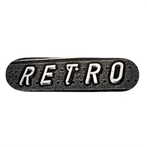 Retro - B&W Skate Board Decks