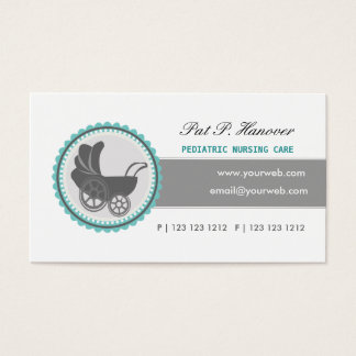 Retro Baby BLUE Carriage Vintage Victorian Era Business Card
