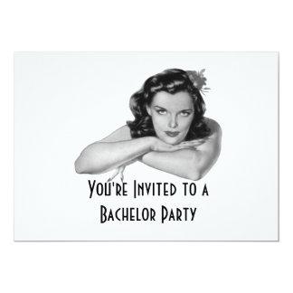 Retro Bachelor Party Invitation