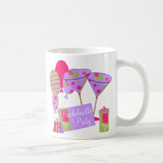 Retro Bachelorette Party Basic White Mug