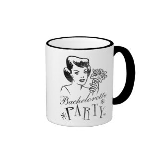 Retro Bachelorette Party Ringer Coffee Mug