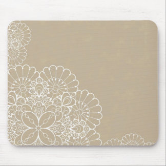 Retro background with lace ornament mouse pad