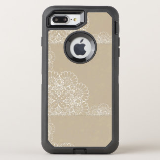 Retro background with lace ornament OtterBox defender iPhone 7 plus case
