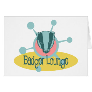 Retro Badger Lounge Card