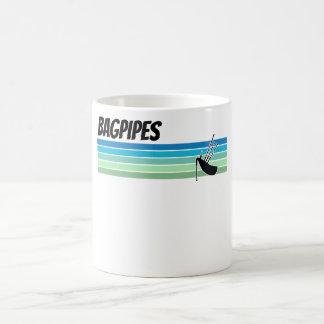 Retro Bagpipes Coffee Mug