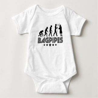 Retro Bagpipes Evolution Baby Bodysuit