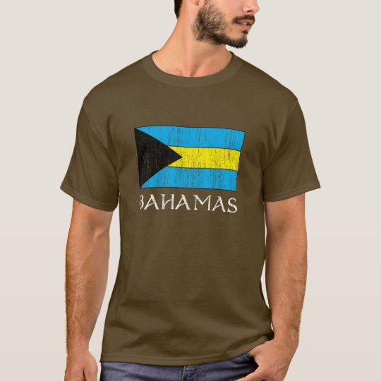 Retro Bahamas Flag T-shirt