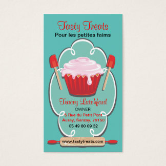 Retro bakery business cards