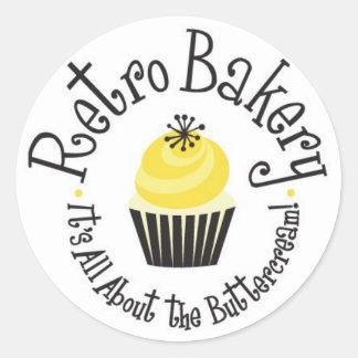 Retro Bakery Stickers! Classic Round Sticker
