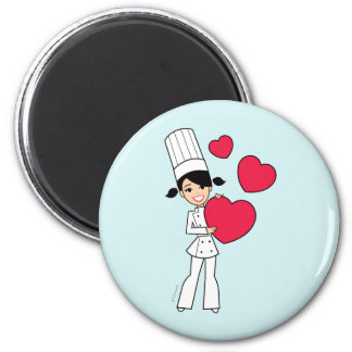 Retro Baking Girl Magnet