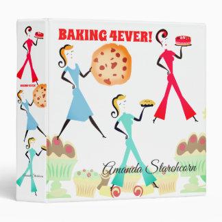 Retro baking girls sweets cookbook recipe binder