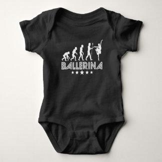 Retro Ballerina Evolution Baby Bodysuit