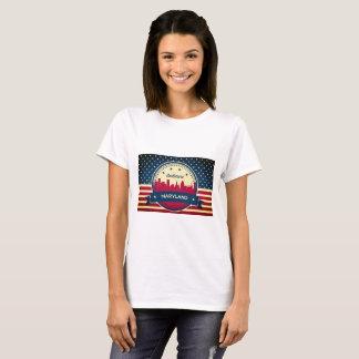 Retro Baltimore Maryland Skyline T-Shirt