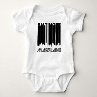 Retro Baltimore Skyline Baby Bodysuit
