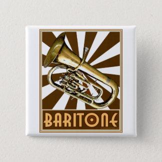 Retro Baritone 2 Inch Square Button