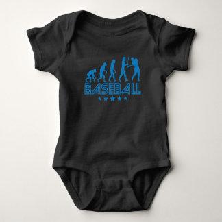 Retro Baseball Evolution Baby Bodysuit