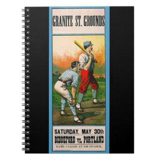 Retro Baseball Game Ad 1885 c Notebooks