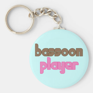 Retro Bassoon Keychain