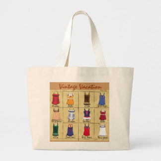 Retro Bathing Suits- Large Tote Bag