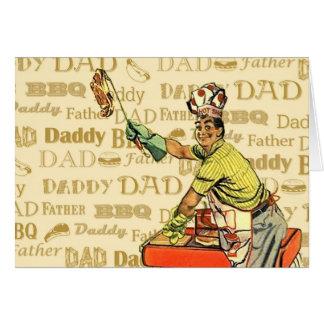 Retro BBQ Dad Card
