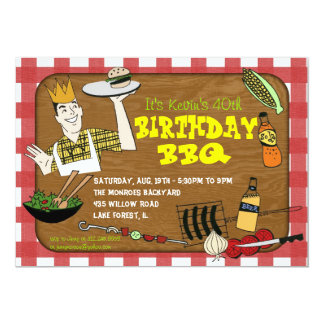 Retro BBQ Party Invitation