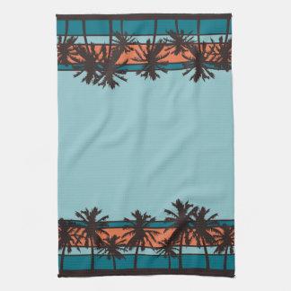 Retro Beach Kitchen Towels