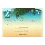 Retro Beach Scene Wedding RSVP Response Card