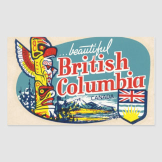 Retro Beautiful British Columbia Canada Sticker