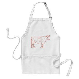 Retro Beef Cuts Standard Apron