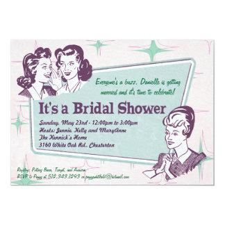 Retro Beehive Hairdo- Bridal Shower Invitation