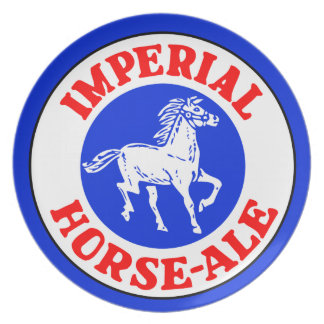 Retro Belgian beer logo Imperial Horse Ale Plates