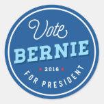 Retro Bernie Round Sticker